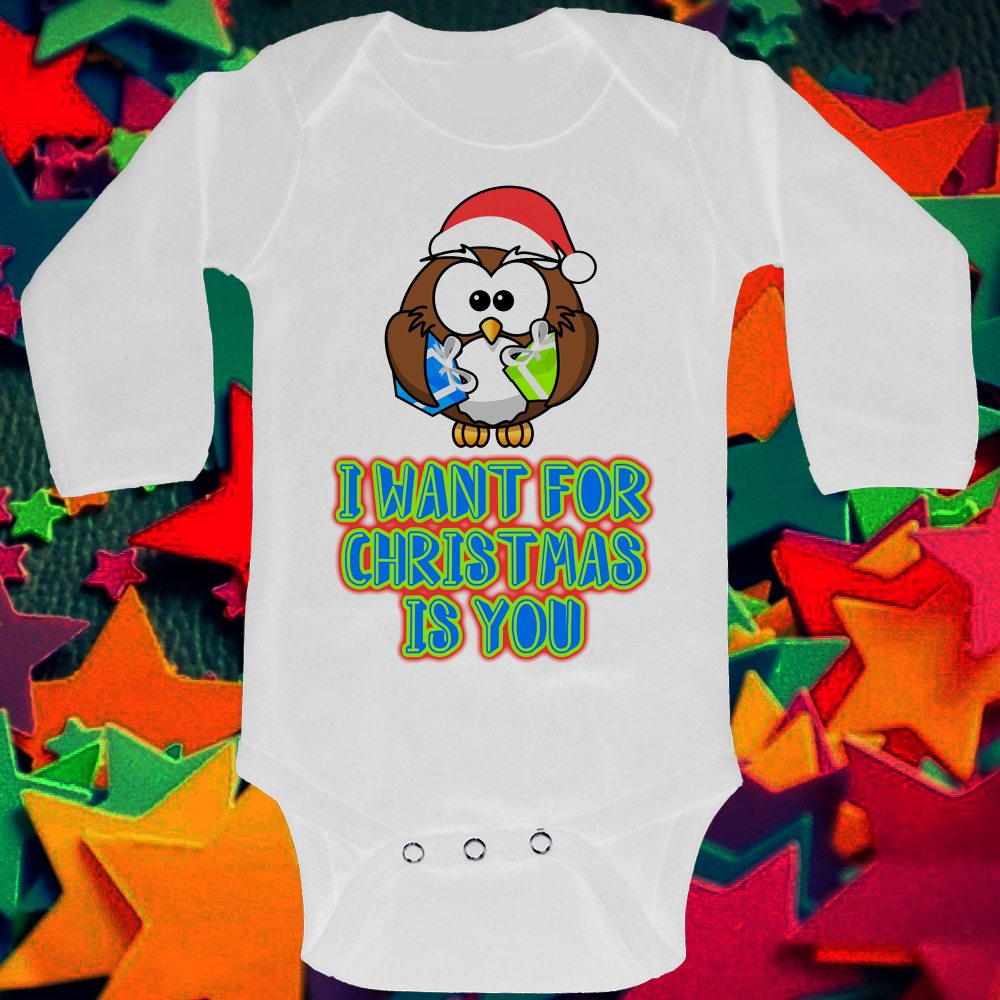 LONG SLEEVED BABY GROW OWL I WANT FOR CHRSTMAS