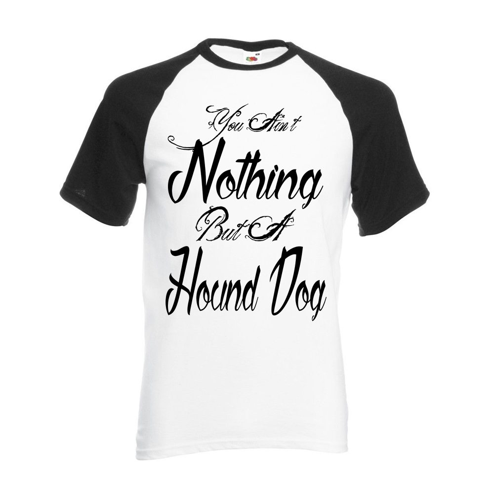 black sleeved bb tee hound dog