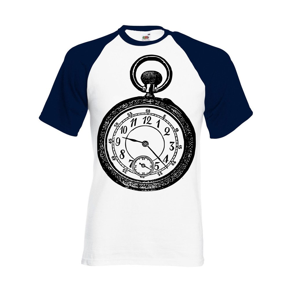navy sleeved bb tee old clock