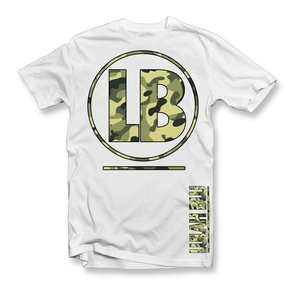 white t shirt temp lb camo tee