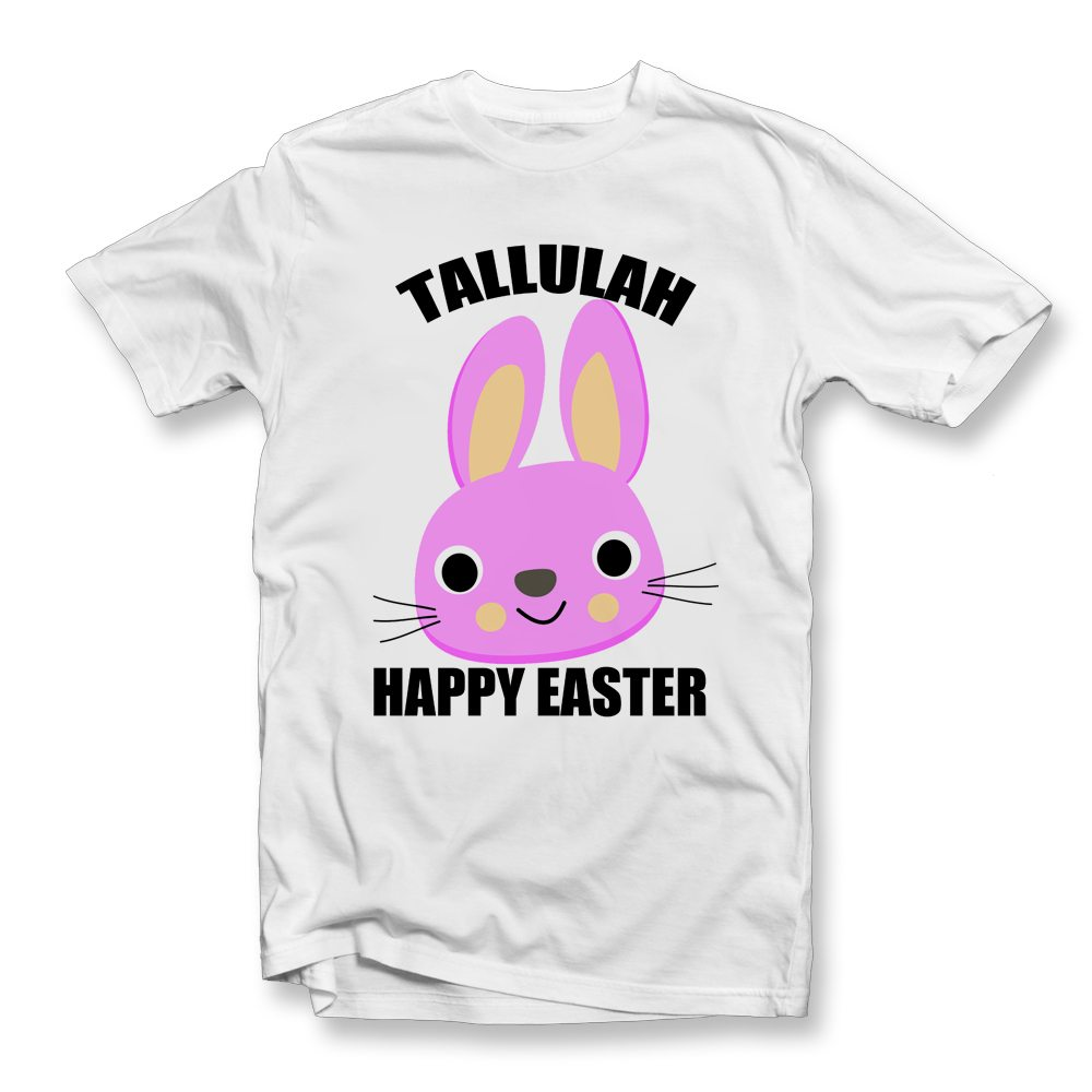 GIRLS PERSONALISED EASTER T SHIRT