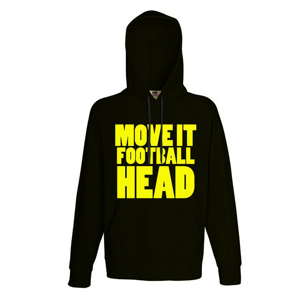 black move it football head hoodie
