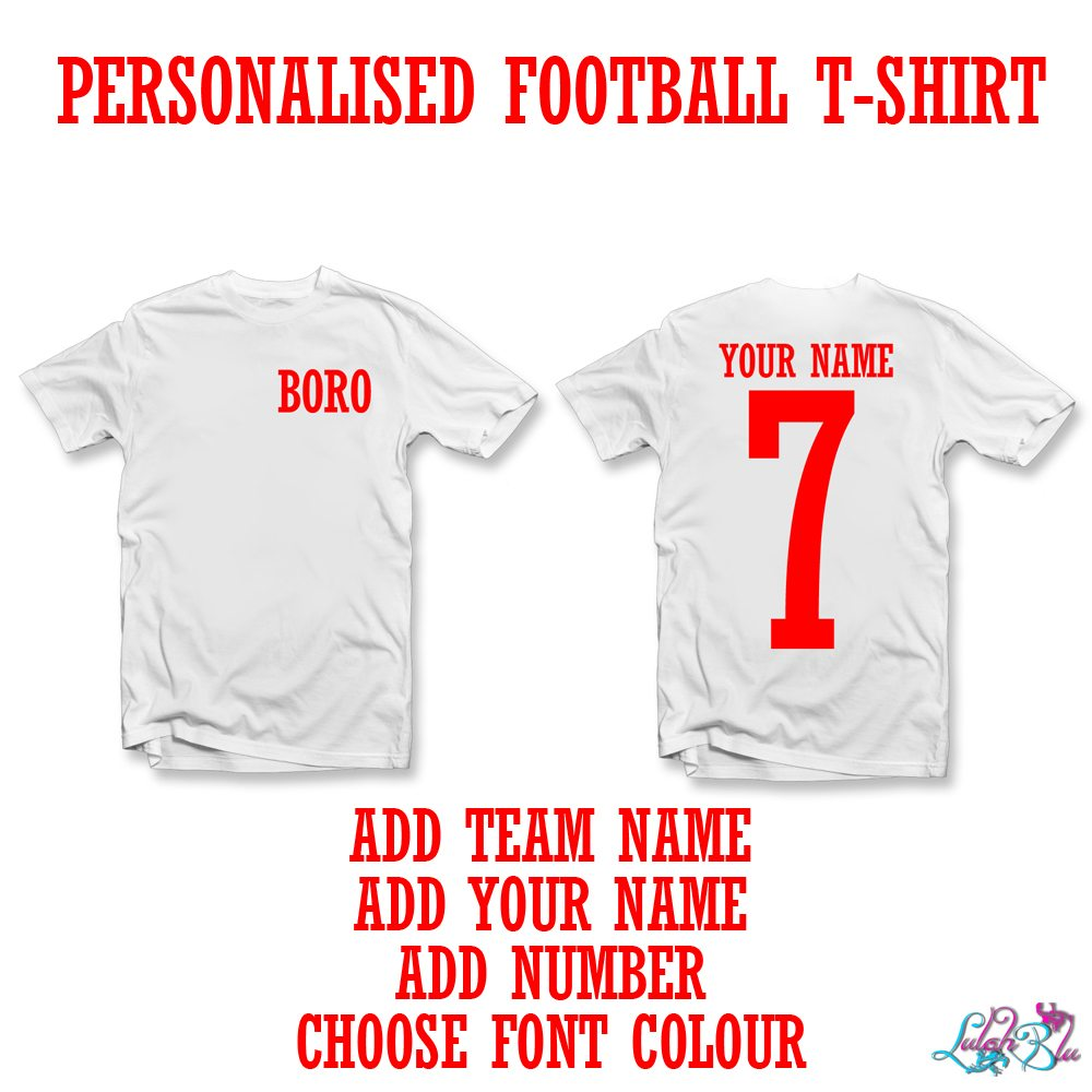 PERSONALISED FOOTBALL T SHIRT MAIN