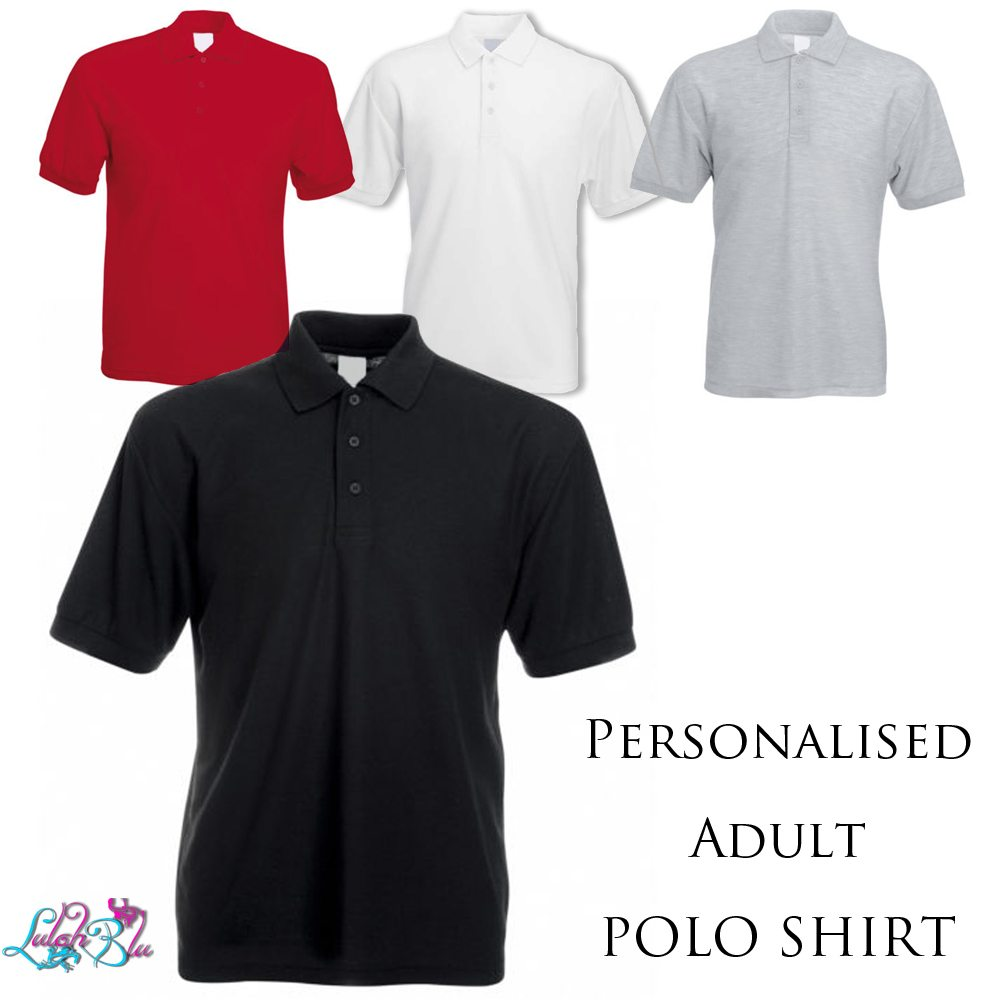 PERSONALISED ADULT POLO SHIRT