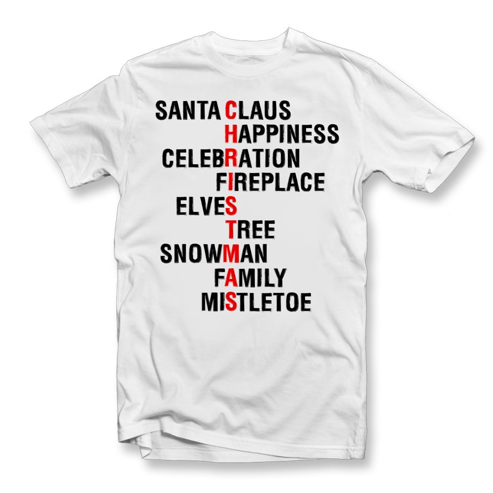 christmas-words-tshirt
