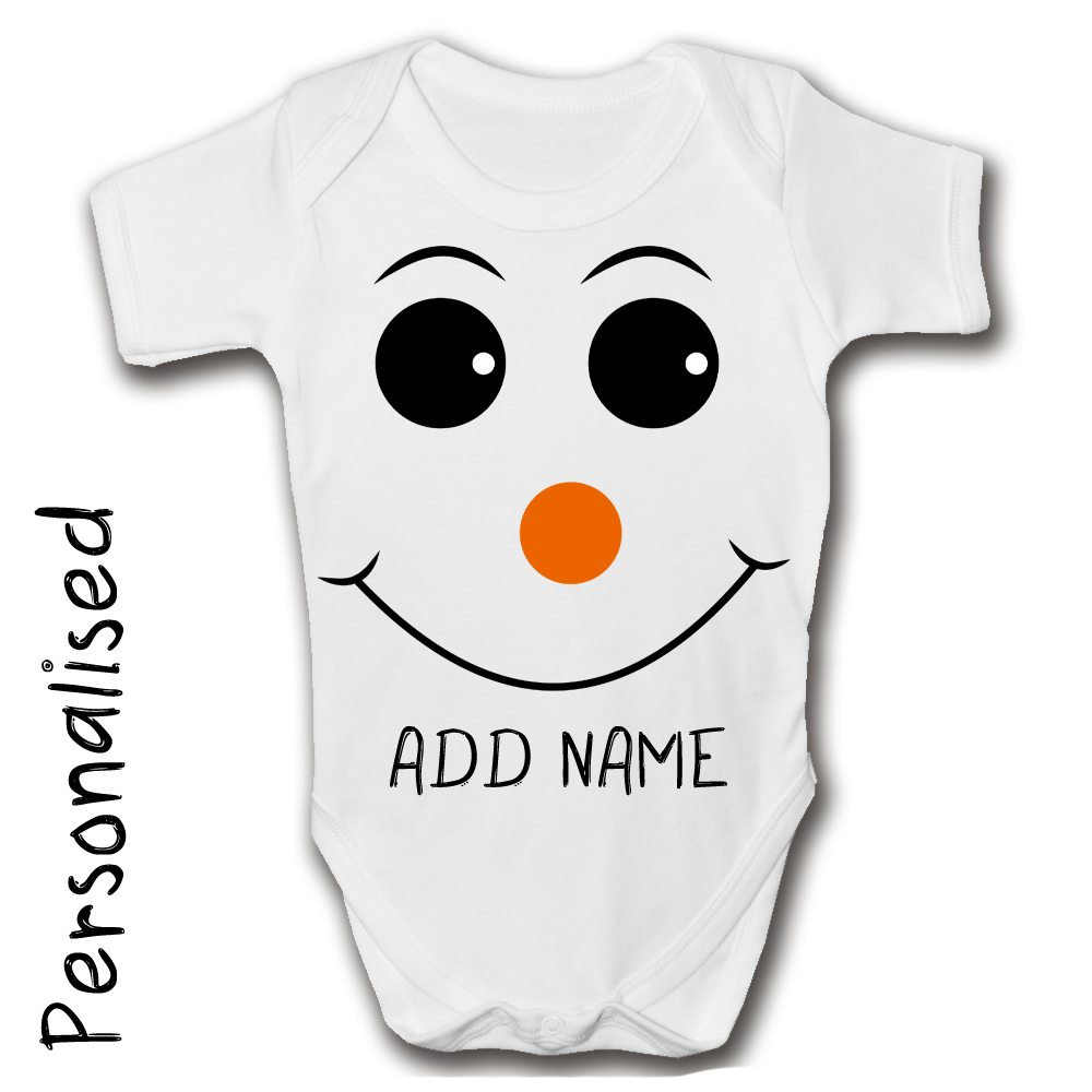 snowman-face-personalised-baby-grow