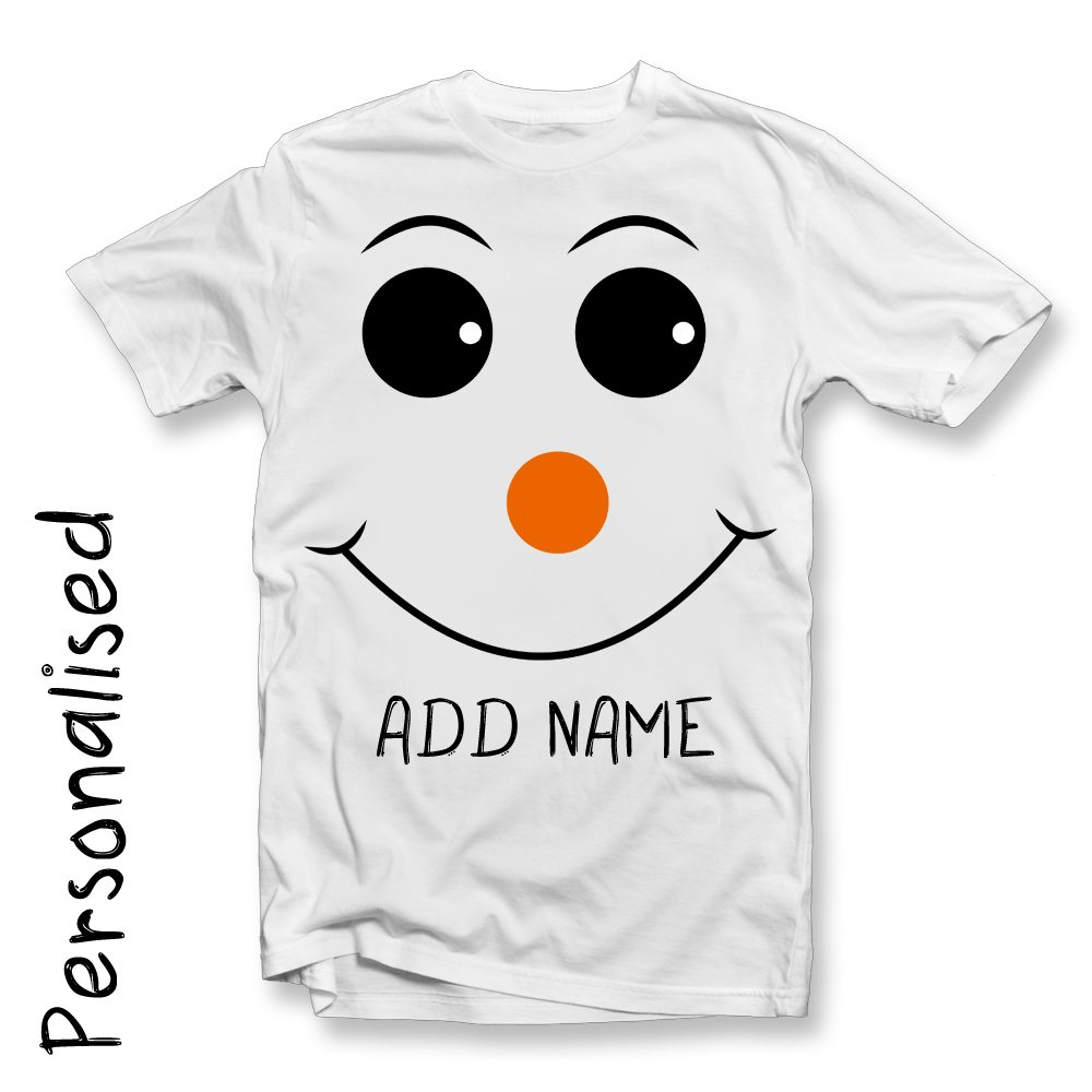 snowman-face-white-t-shirt-personalsied