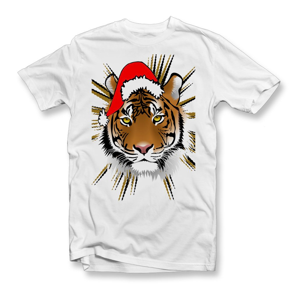 tiger-christmas-white-t-shirt