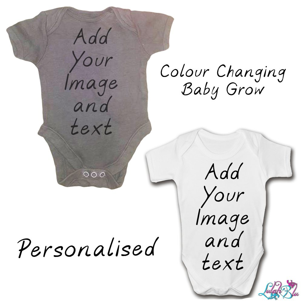 personalised colour changing baby grow