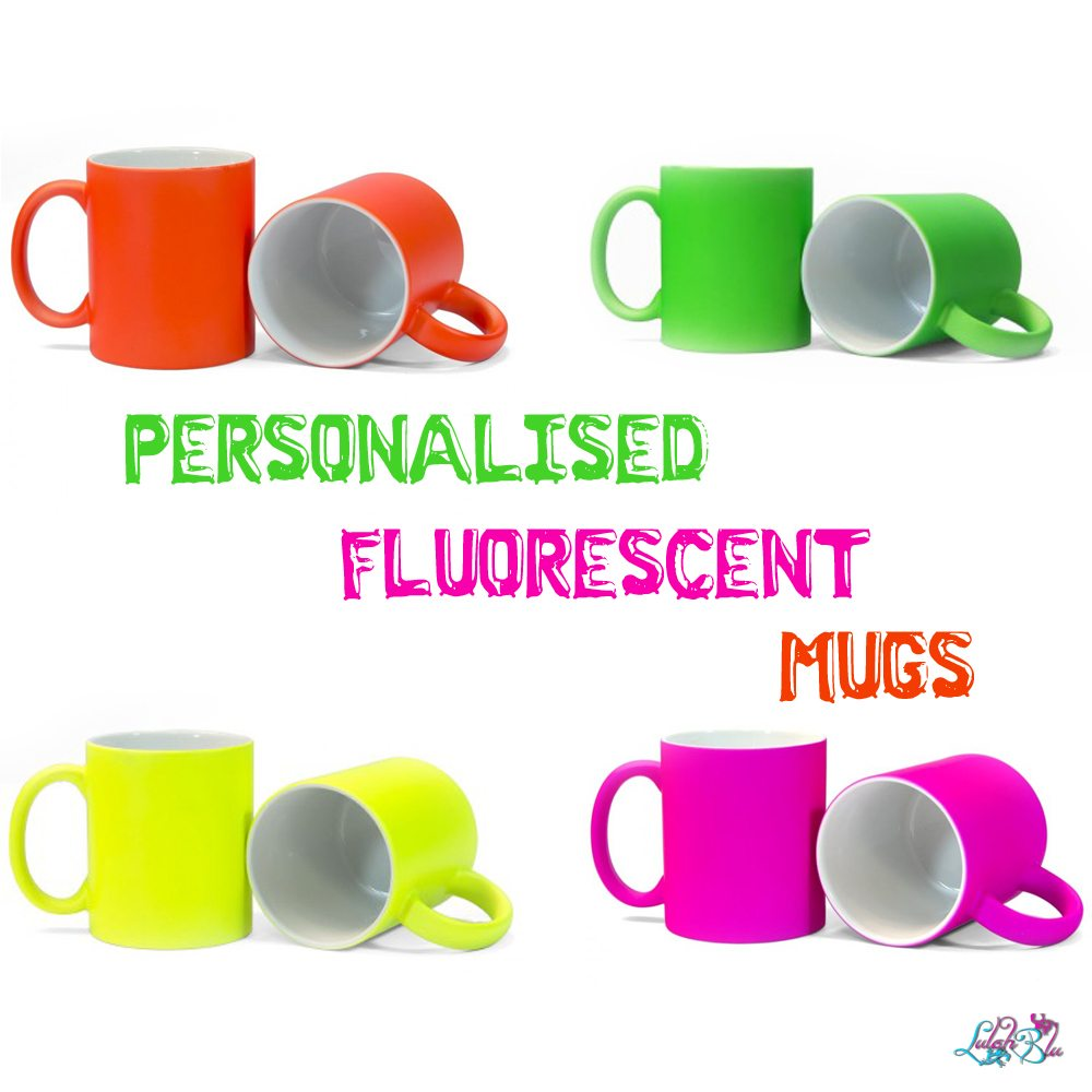 personalised fluorescent mugs
