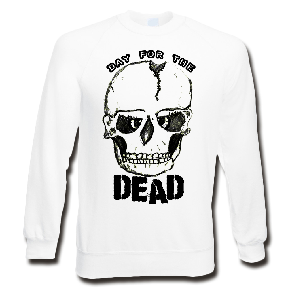 DAY FOR THE DEAD WHITE SWEATER