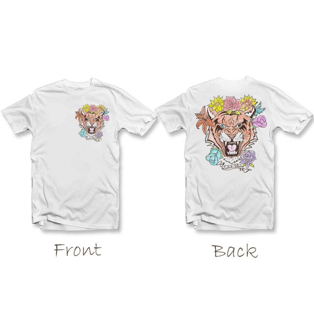 tiger t shirt white