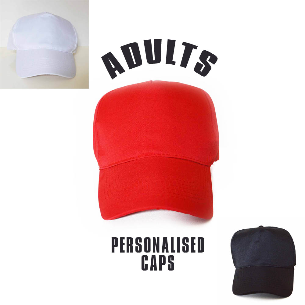 adults personalised caps