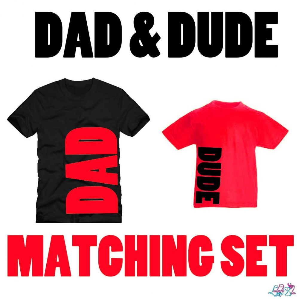 dad and dude set red