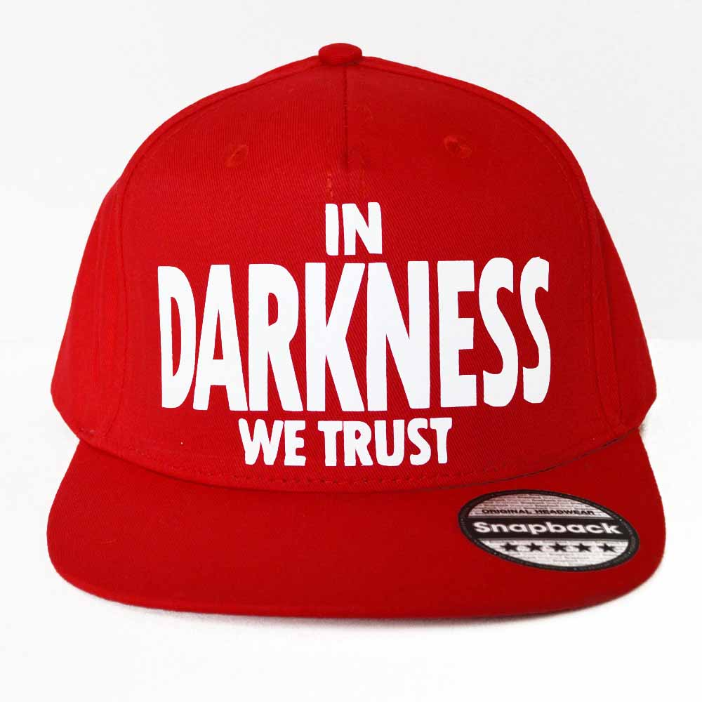 in darkness we trust red snapback 1