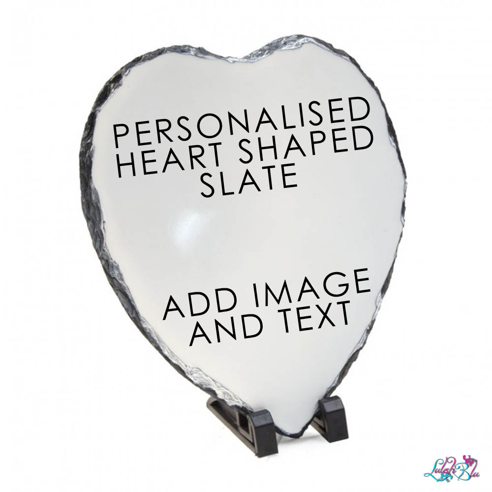 PERSONALISED HEART SLATE