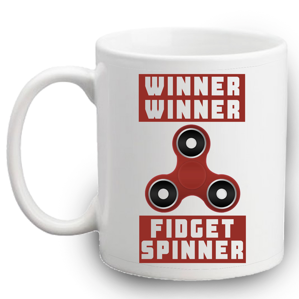 fidget spinner mug left