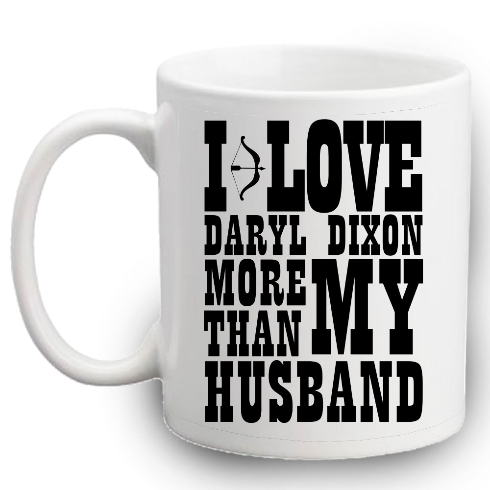 I LOVE DARYL DIXON MUG LEFT