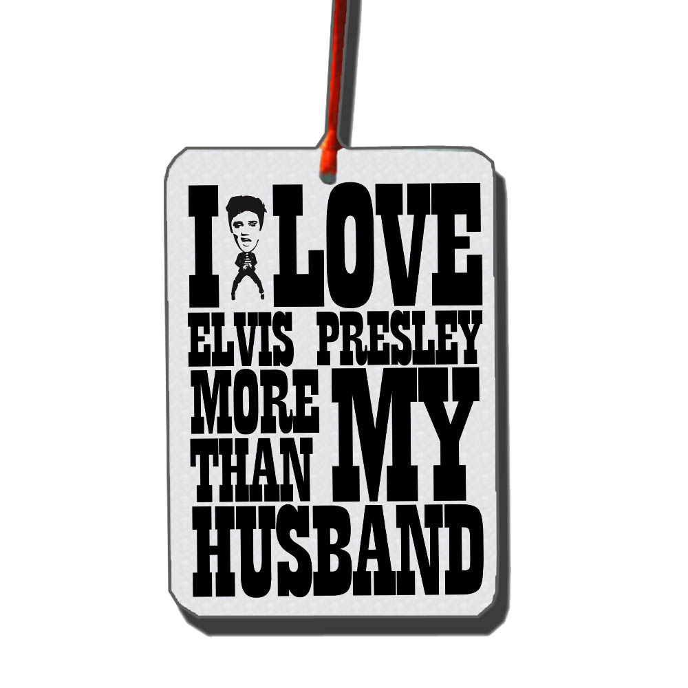 I LOVE ELVIS CAR FRESHENER