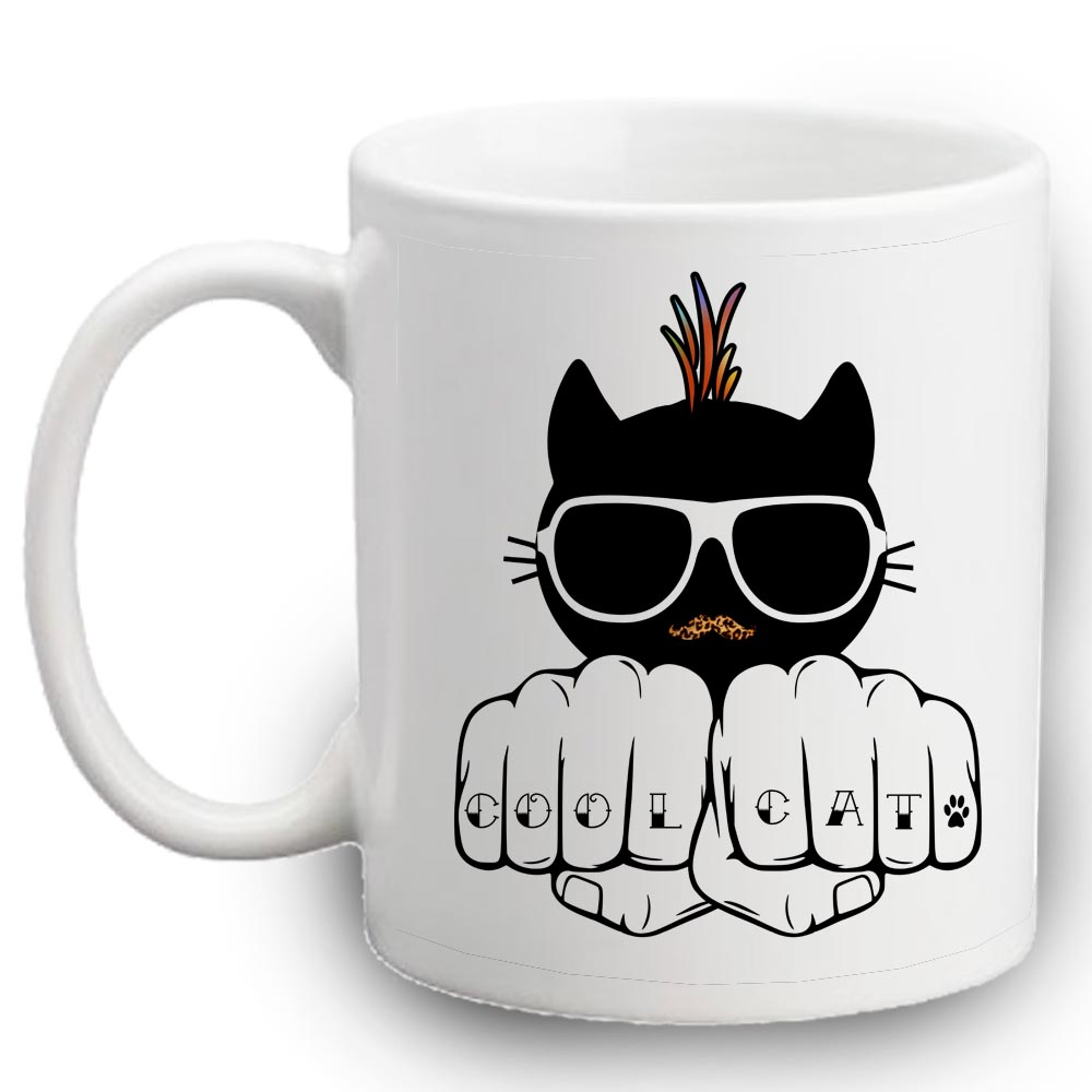 cool cat mug left