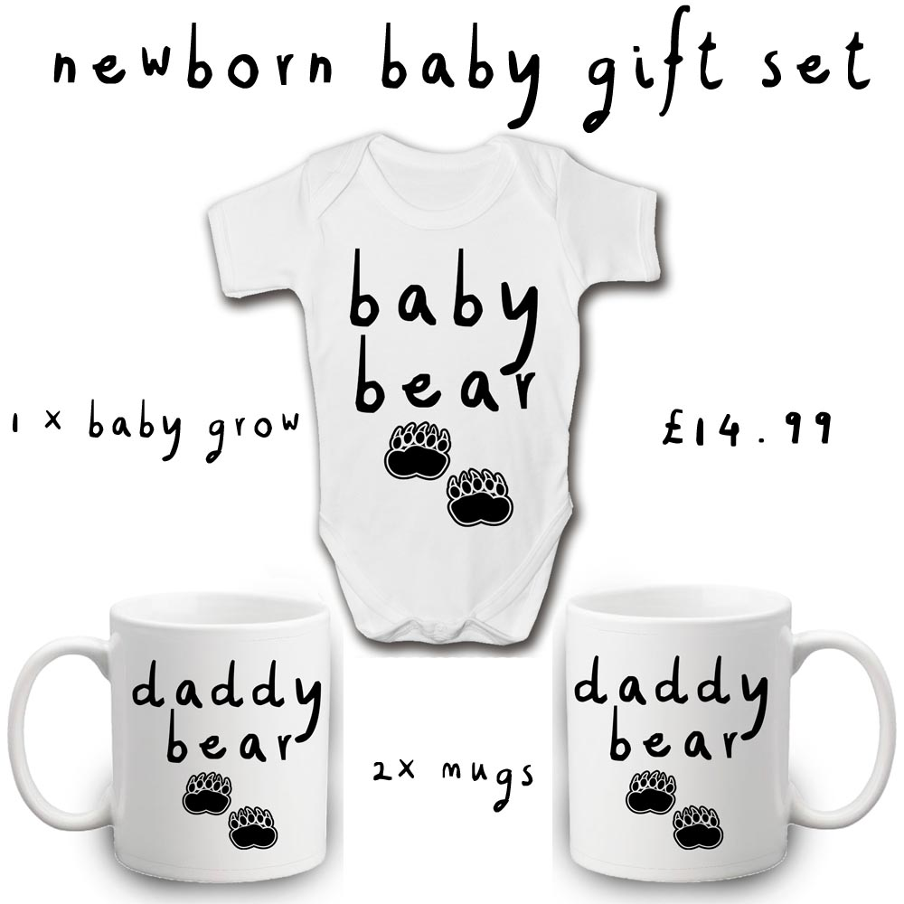 daddy bear same sex gift set