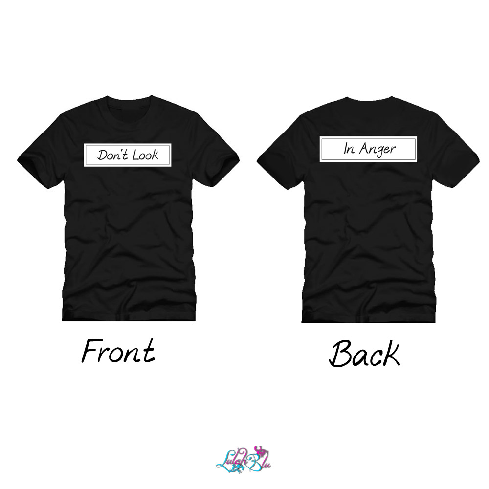 dont look back in anger black tee main