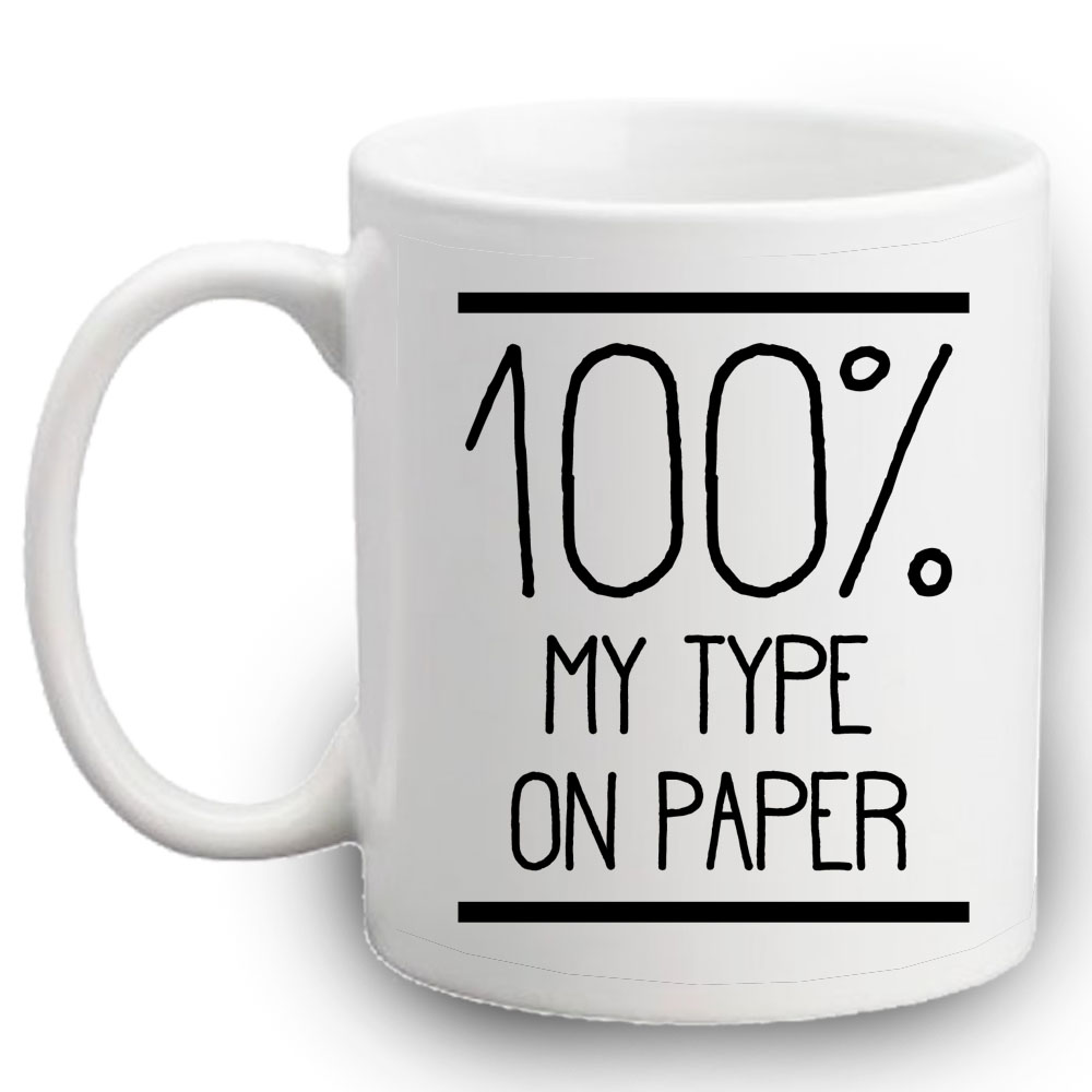 % my type on paper mug lulah blu