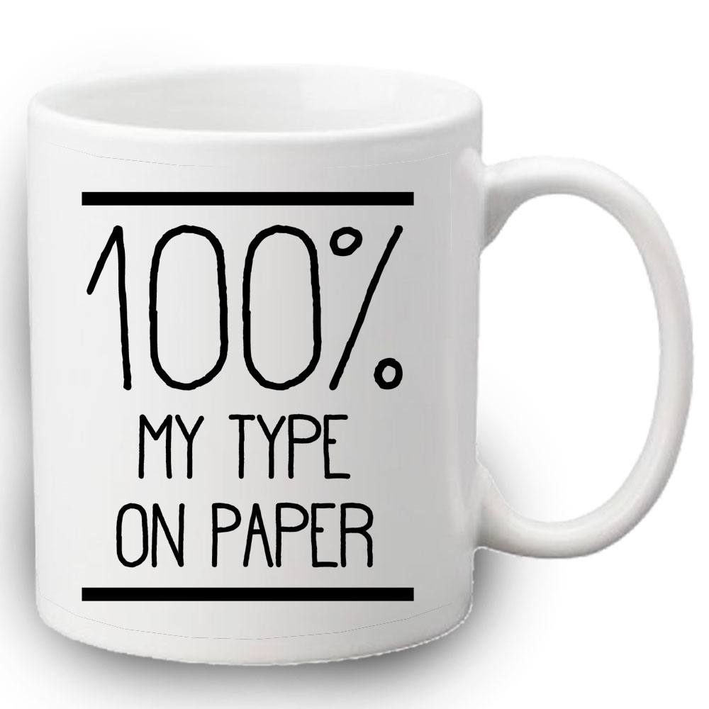 % my type on paper mug lulah blu 100% my type on paper mug