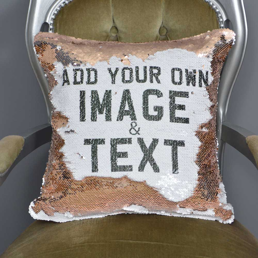 Personalised Sequin Magic Reveal Mermaid Cushion
