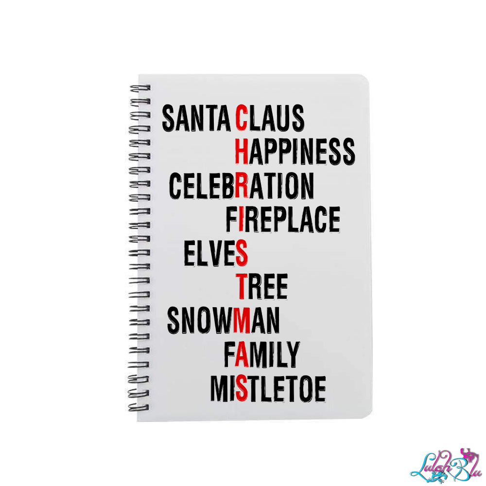 Christmas Words.Christmas Words A5 Notepad