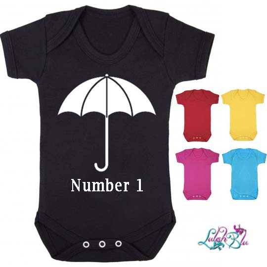 Personalised Umbrella Baby Grow