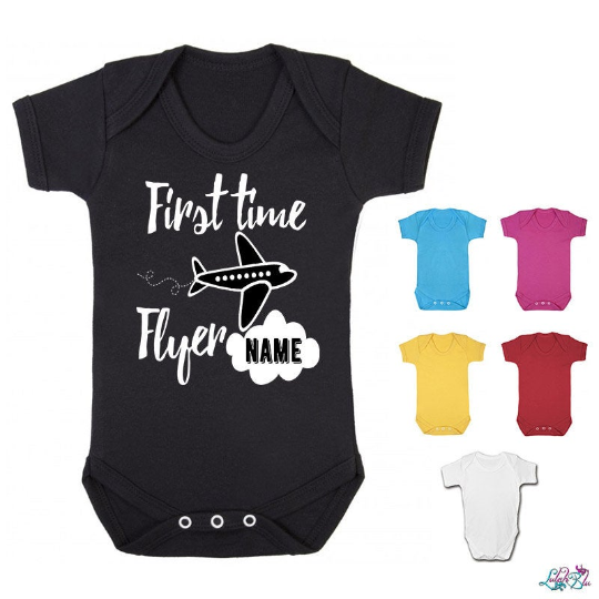 Personalised First Time Flyer Baby Grow